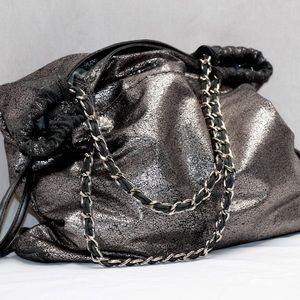 Barney's NYC Metallic hobo with chain straps